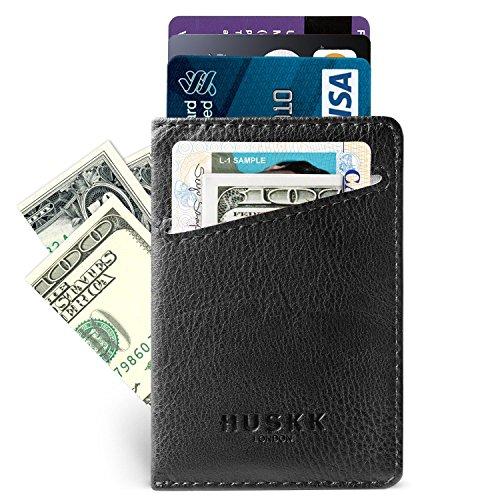 Slim RFID Wallets for Men Leather - Front Pocket Card Holder Sleeve - RFID Blocking
