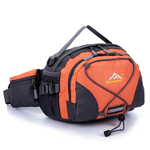 - Han Shi- Sports Bag, Waterproof Running Belt Bum Waist Pouch Fanny Pack Camping Sport Hiking Shoulder Bag (Orange)