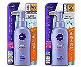 Nivea Super Sun Protect Water Gel SPF 50/PA+++ (Face & Body)Pump Type 140 g x 2 Sets (Japan Import)