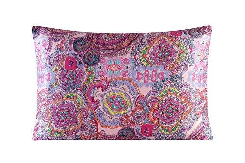 Silk Pillowcase for Hair and Skin with Hidden Zipper Print S