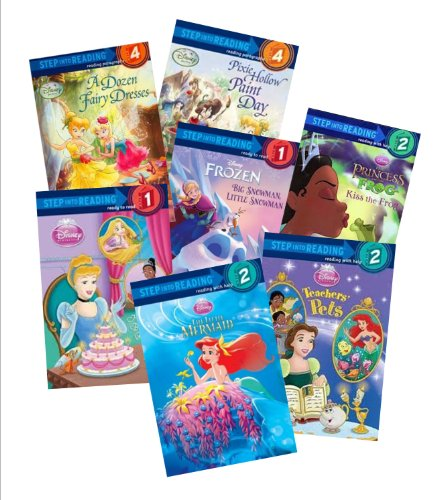 Step Into Reading Disney Collection (15) : Tinkerbell - The Fairy Berry Bake Off - Vidia Takes Charge - The Great Fairy Race - Surprise for a Princess - A Pony for a Princess (Book Sets for Girls)