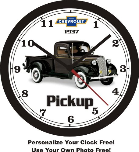 1937 CHEVROLET PICKUP TRUCK WALL CLOCK-Free USA Ship