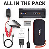 TACKLIFE T8 MAX Jump Starter - 1000A Peak 20000mAh, 12V Car Jumper (All Gas, up to 6.5L Diesel Engine), Auto Battery Booster, Portable Power Pack with Smart Jumper Cables, Storage Case