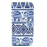 HTC One M8 Case, M8 Case , Camiter Elephant Design Premium PU Leather Wallet Folio Protective Skin Case with Magnetic Closure for HTC One M8 Smart Phone 2014 Release (Built-in Credit Card/ID Card Slot)