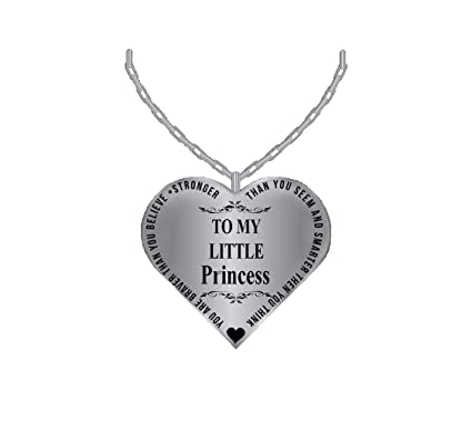 a4edcfa75 Amazon.com: Father To Daughter Jewelry Heart Necklace - Silver Charm ...