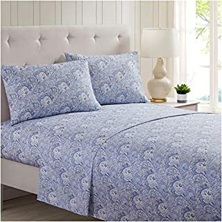Mellanni Bed Sheet Set Brushed Microfiber 1800 Bedding - Wrinkle, Fade, Stain Resistant - 3 Piece (Twin XL, Paisley Blue) (B01ASDANPK) | Amazon price tracker / tracking, Amazon price history charts, Amazon price watches, Amazon price drop alerts