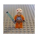 luke skywalker lego figure - Lego Star Wars Mini Figure Luke Skywalker X-Wing Pilot with Lightsaber (Approximately 45mm / 1.8 Inches Tall)