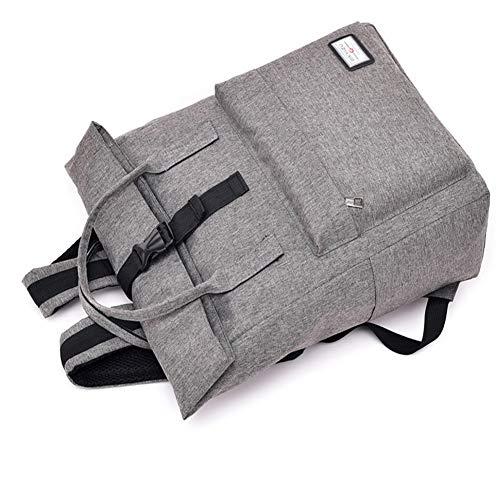 Smart Capacidad Gran Carga Zhrqinss 3 Hombres USB Poliéster Universidad Lona Laptop con Impermeable Puerto Mochila F7wq1d