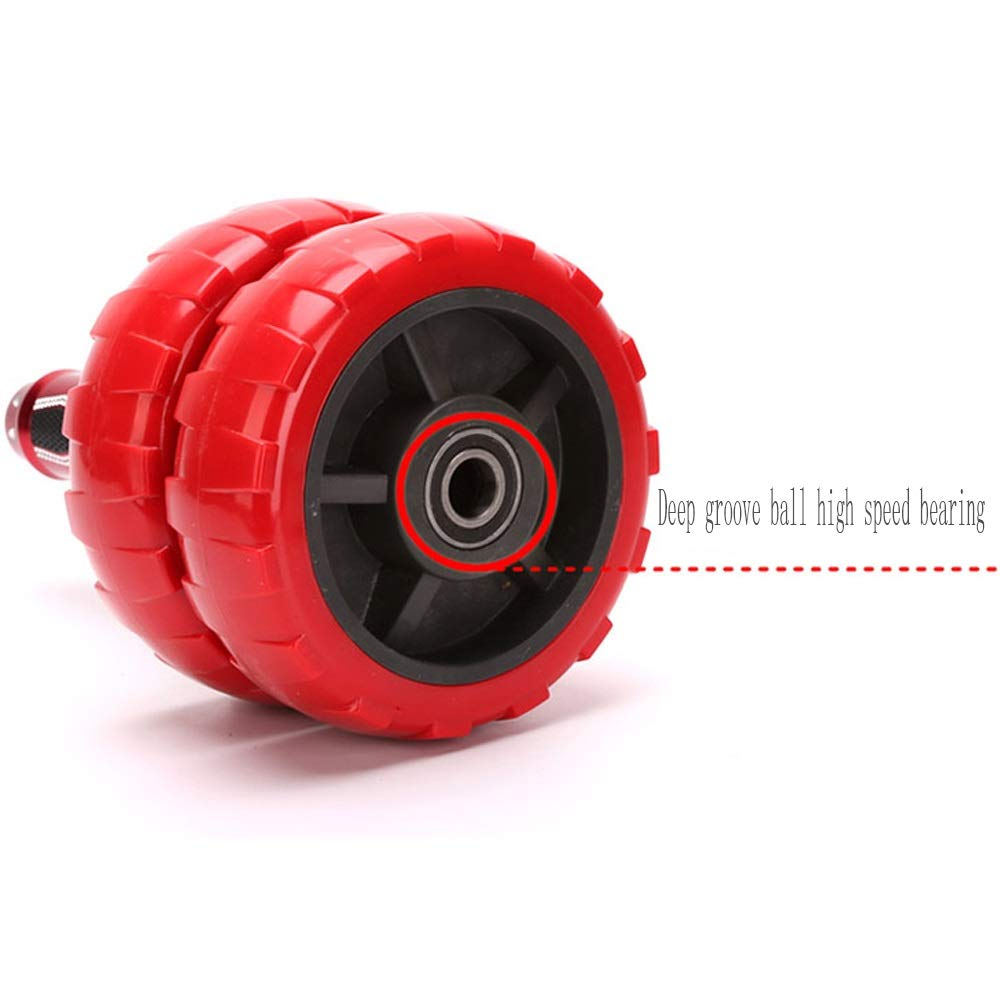 Byx- Aggravation Abdominal ABS Wheel Male Abdominal Abdominal Family Fitness Equipment Wheel Pulley Abdomen -Roller Wheel (Color : B) by Byx- (Image #3)