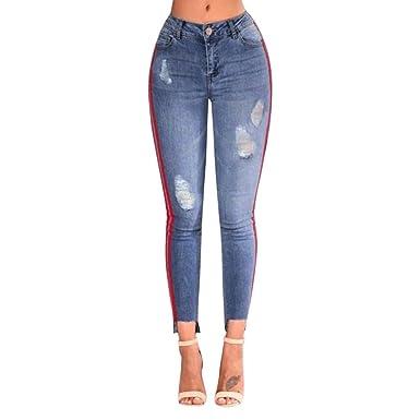 Taille Jeans Femme Pour Pocket Bleu Extensible Zip Mobast Haute 5zqwdxBgg