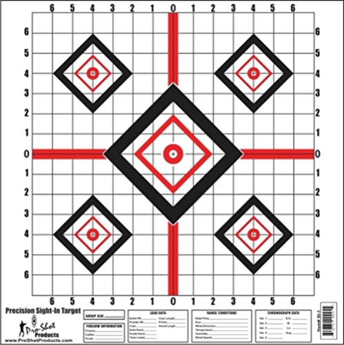 Pro Shot Red Diamond Precision Sight in Target, Red/Black on White