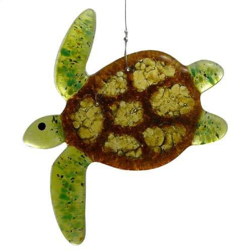 Modern Artisans Sea Turtle Fused Glass Sun Catcher, Handmade in USA by Modern Artisans (Image #3)