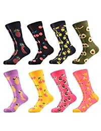 WeciBor Women's Funny Printed Casual Combed Cotton Crew Socks Packs