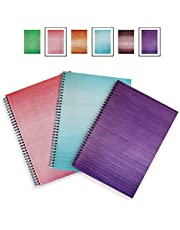 A4 Notebook - 3/6 Packs - SOFT COVER - LEXY NOTES - Modern Spiral Wirebound Notepad