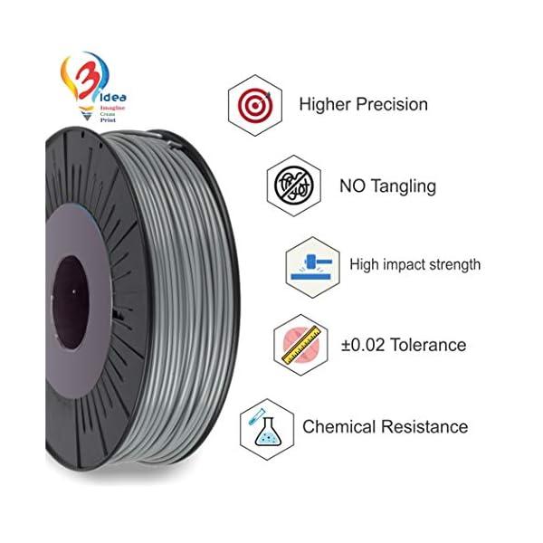ABS Grey 3IDEA 1.75 mm ABS 3D Printing Material Spool 3D Printer and 3D Pen Filament, 1 kg , Grey