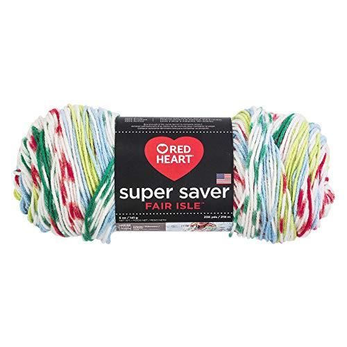 - RED HEART E300F.7261 Super Saver Fair Isle Yarn, Winter