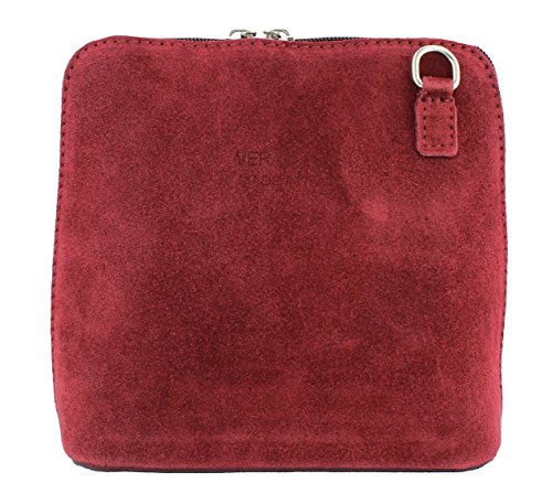Wine body Handbag Vera Pelle Shoulder Vera Suede Pelle Cross Finish zvaYxw