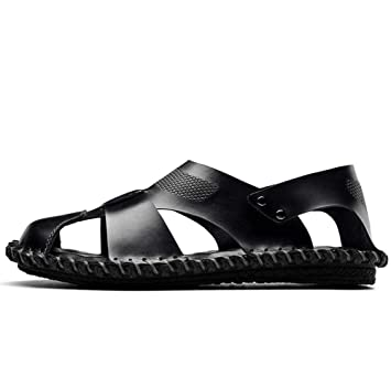 08309c3038f5e Amazon.com: GHFJDO Men Closed-Toe Sandals,Outdoor Leather ...
