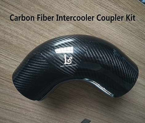 LaiYi International 90 Degree OD:4inch Carbon Fiber Intercooler Coupler Turbo Intake Radiator Elbow Hose (no logo)