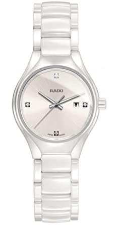 fda263aa810 Image Unavailable. Image not available for. Color  Rado True High-tech White  Ceramic Diamond Ladies Watch R27061712