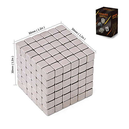 Kemuse Magnetic Cube, Magic Cubes Building Blocks Educational Toys for Stress Relief and Intelligence Development, Fun DIY Desktop Toys (216 Balls – 5mm)
