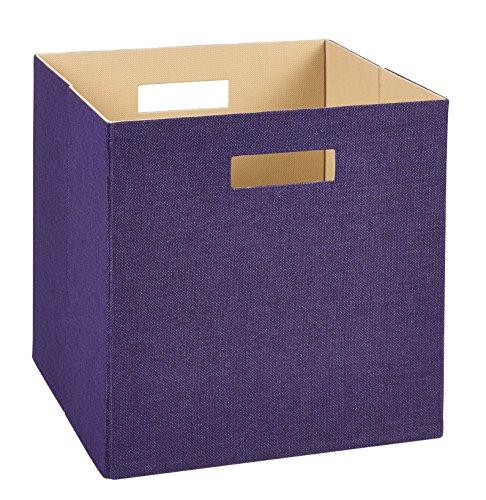 ClosetMaid 7109 Decorative Fabric Storage Bin, Purple