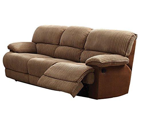 ACME Furniture 51140 Malvern Recliner Sofa, Light Brown PU/Fabric