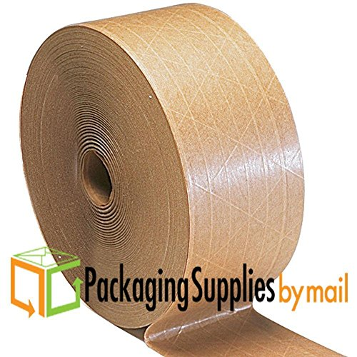 20 Rolls Central 3''x600' Brown Kraft Paper 160 WAT Non Reinforced Gum Tape by PSBM by PackagingSuppliesByMail