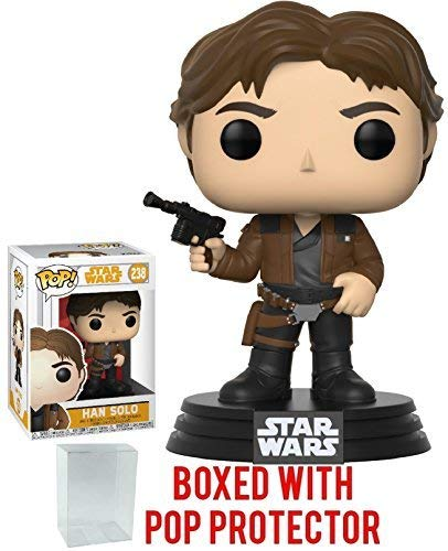Funko Pop! Star Wars: Solo - Han Solo Vinyl Figure (Bundled with Pop Box Protector Case)
