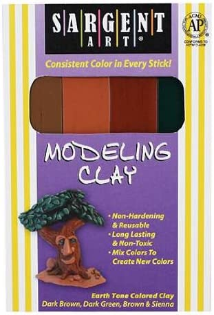 Sargent Art Modeling Clay Earth Tone Colors By Sargent Art Inc.