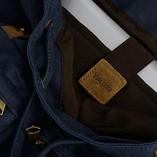 Bleu Navy à au Navy main Sac femme blu pour dos porté blu Yaluxe a8PHxnqw
