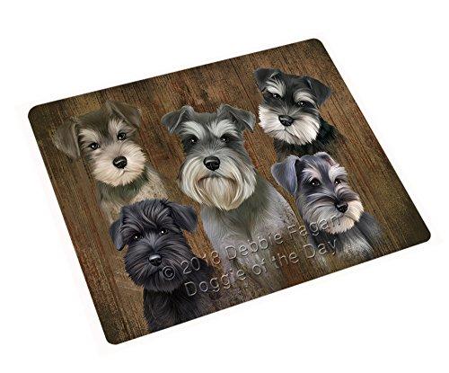Rustic 5 Schnauzers Dog Blanket BLNKT61680 (54x38 Tapestry Throw)