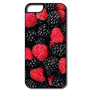 IPhone 5 Cover, Berries Cases For IPhone 5 - White/black Hard Plastic