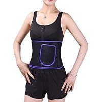 Mulampli — Cinta modeladora de cintura feminina para exercícios físicos, perda de peso e suor