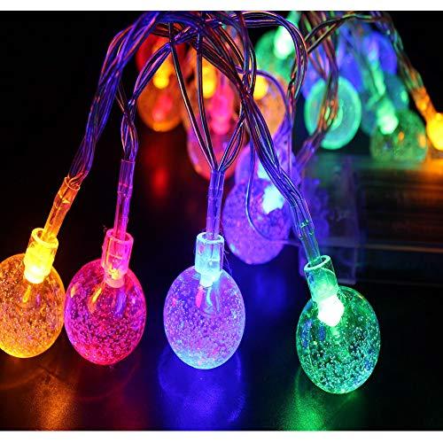 FZZ698 String Lights   Solar Lamp   LED Bulbs for Halloween Christmas Decoration (C, multi) from FZZ698
