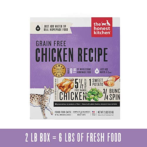 Honest Kitchen Grain Free Chicken Cat Food Recipe 2 lb Box - Prowl (Human Grade Canned Cat Food)