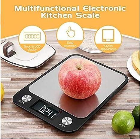 Cucsaist Balanzas De Cocina - Balanza Electrónica Digital De 22 Libras / 10Kg Mini - Balanza De Cocción De Tara De Precisión Pequeña con Pantalla LCD Grande ...