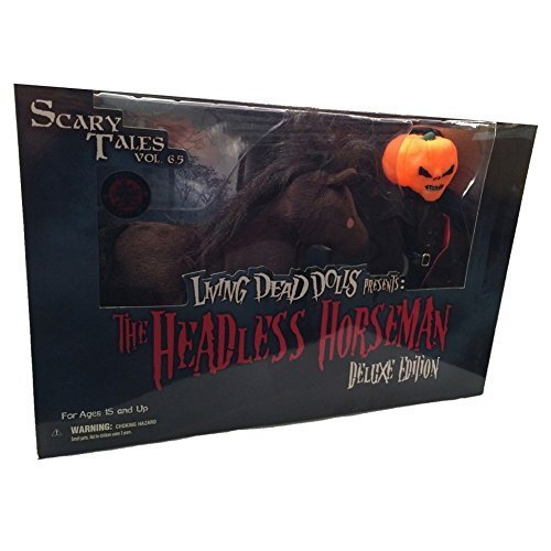 Exclusive Living Dead Dolls Deluxe Headless Horseman with Horse Glow in Dark Variant by Mezco - Exclusive Living Dead Dolls