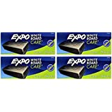 Expo Block Eraser 81505 Dry Erase Whiteboard Board Eraser, Soft Pile, 5 1/8 W x 1 1/4 H - Pack of 4