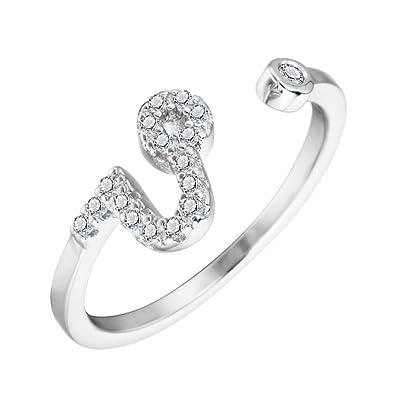 Amazon Com One A Day 925 Silver Ring Cz Zircon Leo Star