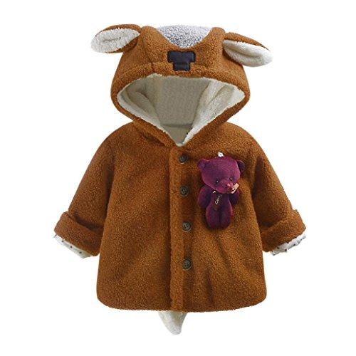 [해외]FarJing 아기 유아 곰 후드 코트 긴 소매 코튼 블렌드 자켓/FarJing Baby Infant Bear Hooded Coat Long Sleeve Cotton Blend Jacket