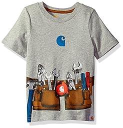 Carhartt Toddler Boys\' Tool Belt Tee, Grey Heather, 3T