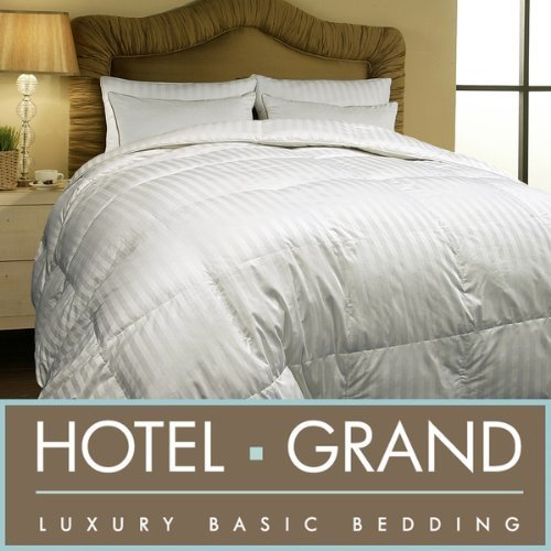Hotel Grand Oversized 500 Thread Count All-season Siberian White Down Comforter-King.