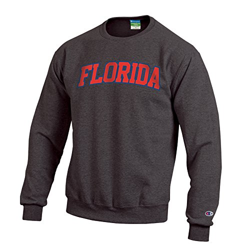 (Champion NCAA Florida Gators Men's Eco Powerblend Crew Neck Sweat Shirt, X-Large, Granite)