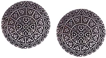 Oxidized Silver Plated Handmade Statement Big Studs Earrings for women #Bollywud