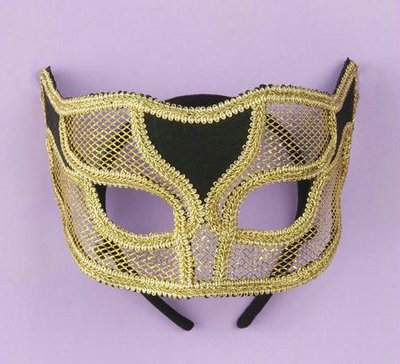 Ven Mask Netted Gold - Deluxe Adult Caveman Costumes