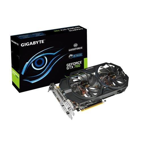 Gigabyte GTX760 GDDR5-2GB 2xDVI/HDMI/DP OC Graphics Card GV-N760WF2OC-2GD