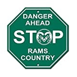 Colorado State University Rams College NCAA Collegiate Sports Team Logo Home Office Garage Wall Stop Sign - DANGER AHEAD RAMS COUNTRY