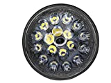 PAR36 Aviation Grade LED Aircraft Taxi Light - Wide Beam - 2,100 Lumens from 18 LEDs in Long Lasting Glass Lens with Die-Cast Aluminum Housing