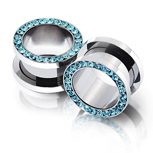 5 8 plugs and tunnels with gems - 4